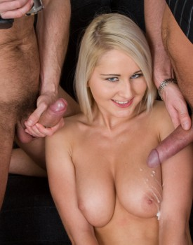 Joyce Has a Casting Audition Including a Threesome Fuck Session-9