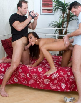 Nataly casting and first sex scene was a threesome-3