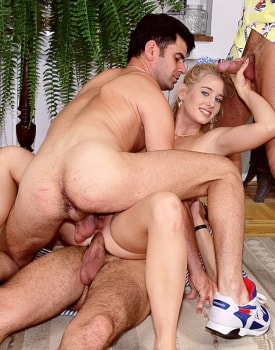 Betty, Sexy Blonde Ready for a Gangbang at the Private Casting-4