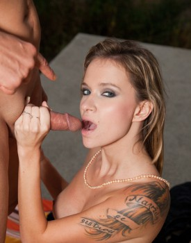 Angel Piaff, Perfect Tattoed Blonde in a POV Casting -11